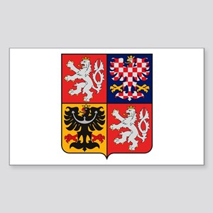 Czech Republic Coat of Arms Rectangle Sticker