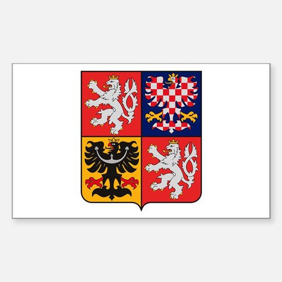 Czech Republic Coat of Arms Rectangle Decal