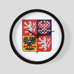 Czech Republic Coat of Arms Wall Clock