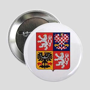 "Czech Republic Coat of Arms 2.25"" Button (10 pack)"