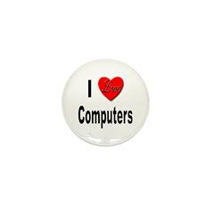 I Love Computers Mini Button (10 pack)