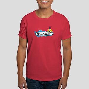 Topsail Beach NC - Surf Design Dark T-Shirt