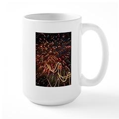 Fireworks Against the Stars Large Mug