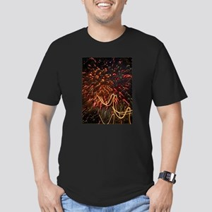 Fireworks Against the Stars Men's Fitted T-Shirt (