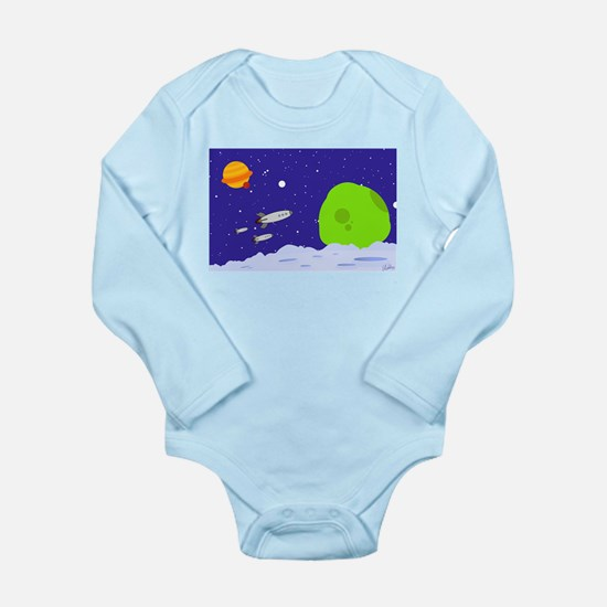 Space Patrol Long Sleeve Infant Bodysuit