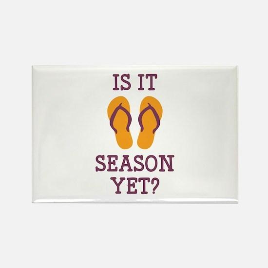 Flip Flop Season Rectangle Magnet