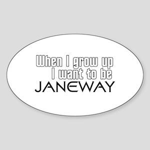 Janeway Homage Sticker (Oval)