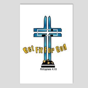Get Fit For God Postcards (Package of 8)