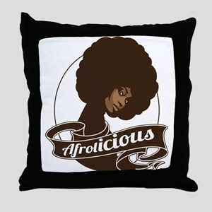 Afrolicious Throw Pillow