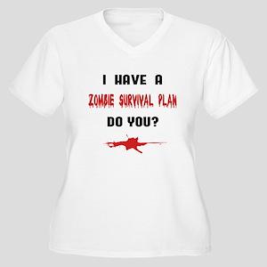 Zombie Plan Women's Plus Size V-Neck T-Shirt