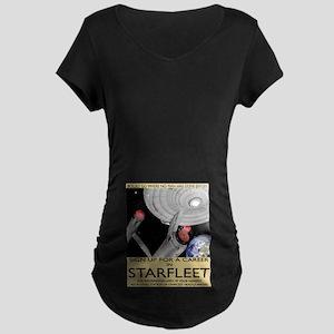 Starfleet Recruitment Maternity Dark T-Shirt