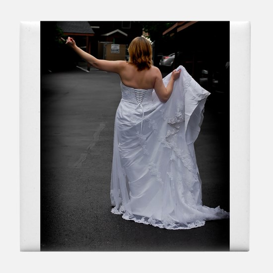 Bride Hitchhike Vertical Tile Coaster