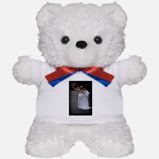 Bride Hitchhike Vertical Teddy Bear
