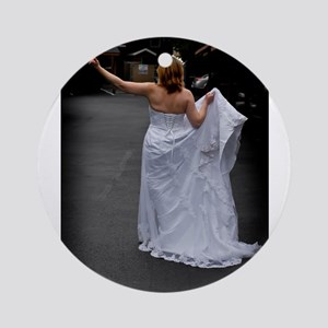 Bride Hitchhike Vertical Ornament (Round)