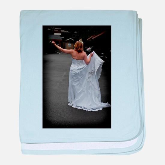 Bride Hitchhike Vertical Infant Blanket