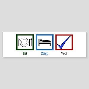Eat Sleep Vote Sticker (Bumper)