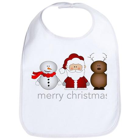Merry Christmas Characters Bib