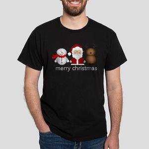 Merry Christmas Characters Dark T-Shirt
