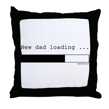 New dad loading Throw Pillow