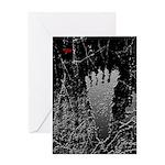 Neon Foot Greeting Card