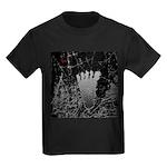 Neon Foot Kids Dark T-Shirt