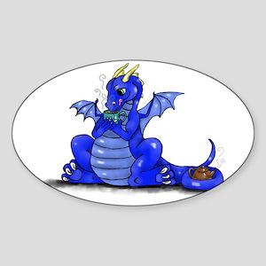 Dragon Drinking Tea Sticker