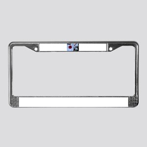 Wedding Ball and Chain License Plate Frame