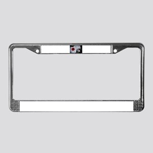 Wedding Ball and Chain BW License Plate Frame
