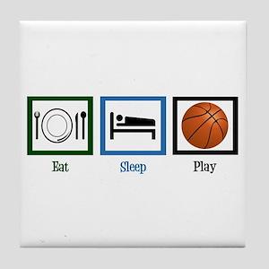 Eat Sleep Basketball Tile Coaster