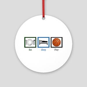Eat Sleep Basketball Ornament (Round)