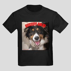 Aussies Rule! Kids Dark T-Shirt