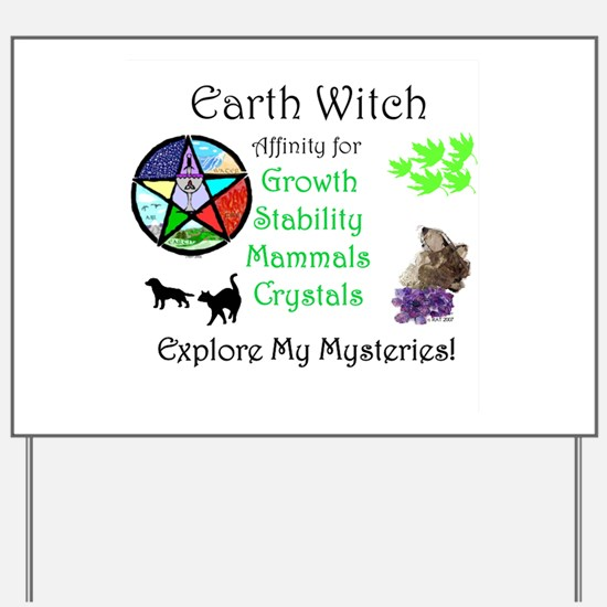 Earth Witch Yard Sign