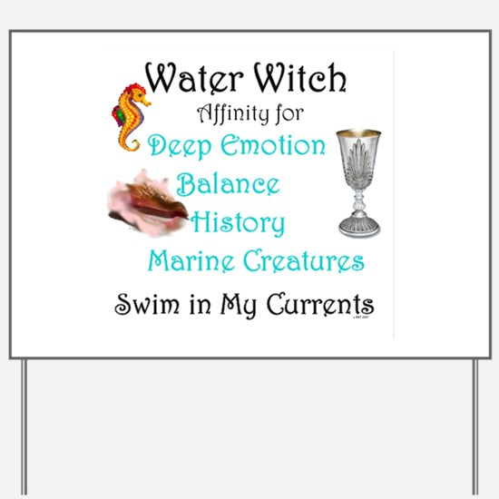 Water Witch Yard Sign