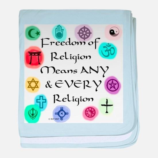Freedom of Religion Infant Blanket