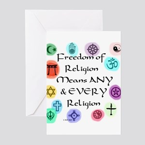 Freedom of Religion Greeting Cards (Pk of 20)