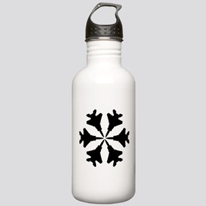 F-15 Aviation Snowflake Stainless Water Bottle 1.0