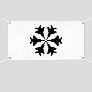 F-15 Aviation Snowflake Banner