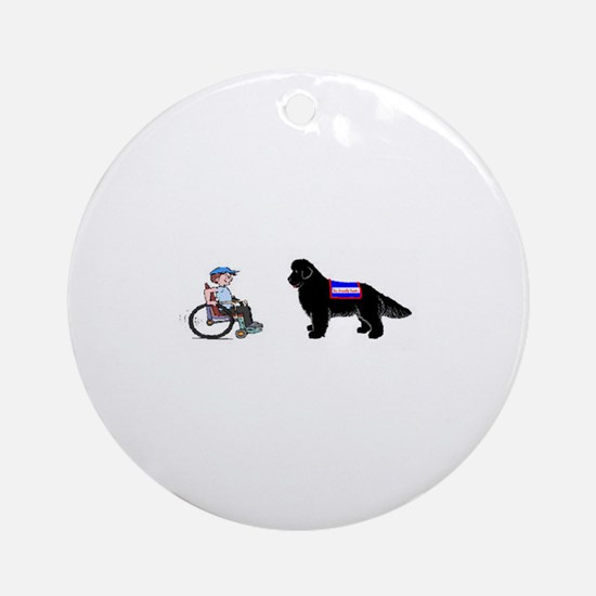 Therapy dogs Ornament (Round)