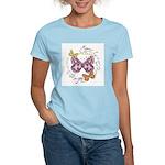 Vintage Butterflies Women's Pink T-Shirt