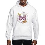 Vintage Butterflies Hooded Sweatshirt