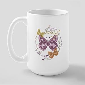 Vintage Butterflies Large Mug