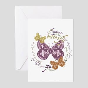 Vintage Butterflies Greeting Cards (Pk of 10)
