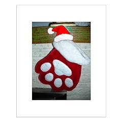 Pet Paws Christmas Stocking Posters