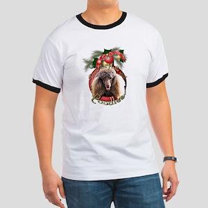 Christmas - Deck the Halls - Poodles Ringer T