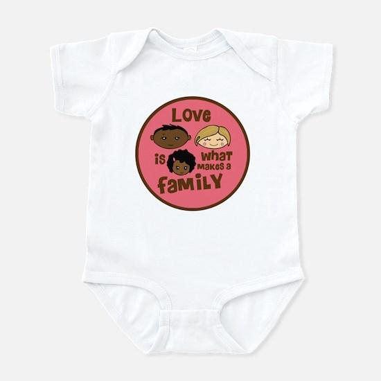 Girl African/Caucasian 2 Love Infant Bodysuit