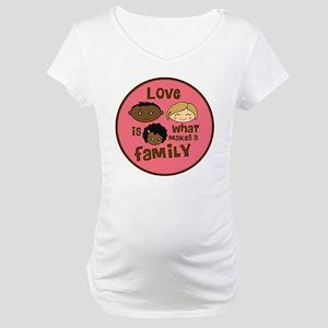 Girl African/Caucasian 2 Love Maternity T-Shirt