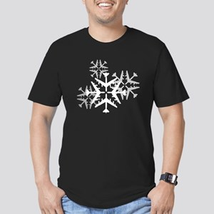 B-52 Aviation Snowflake Men's Fitted T-Shirt (dark