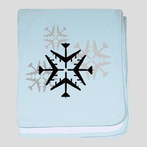 B-52 Aviation Snowflake baby blanket