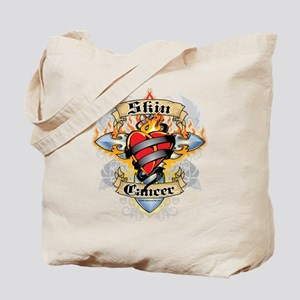 Skin Cancer Cross and Heart Tote Bag