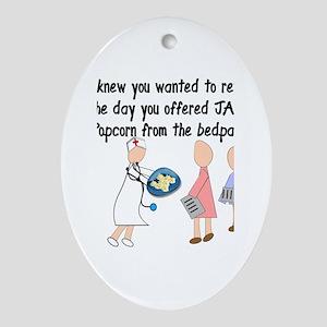 Retired Nurse Story Art Ornament (Oval)
